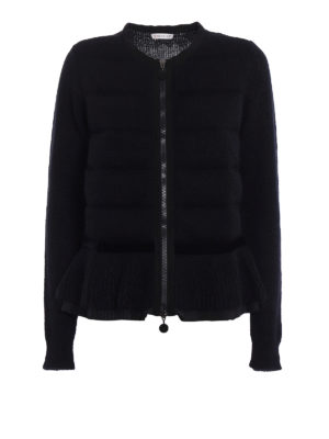 Moncler: cardigans - Padded panelled mohair cardigan