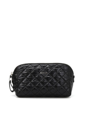Moncler: Cases & Covers - Quilted nylon large beauty case