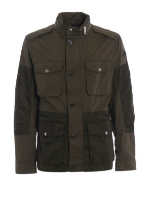 Moncler: casual jackets - Agard cotton and nylon field jacket