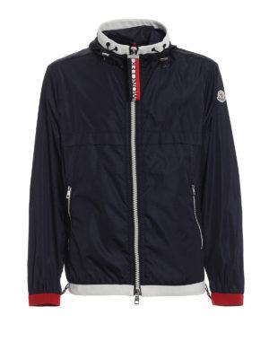 Moncler: casual jackets - Alshat dark blue windproof jacket