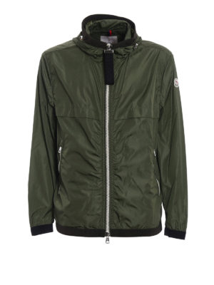 Moncler: casual jackets - Alshat dark green windproof jacket