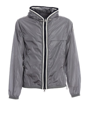 Moncler: casual jackets - Anton windproof hooded grey jacket