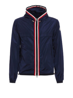 Moncler: casual jackets - Colour touch nylon hooded jacket
