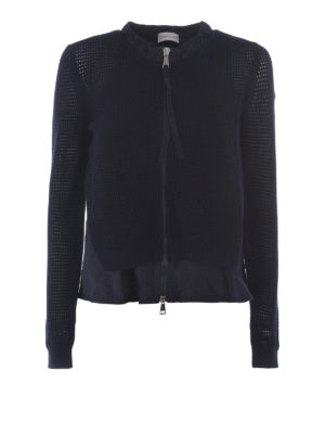 Moncler: casual jackets - Crochet nylon cardigan