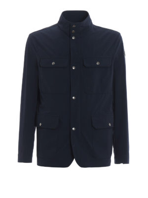 Moncler: casual jackets - Curan stretch nylon field jacket
