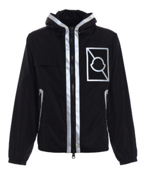 Moncler: casual jackets - Gauss reflective trimmed jacket