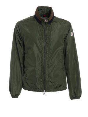 Moncler: casual jackets - Goulier dark green jacket
