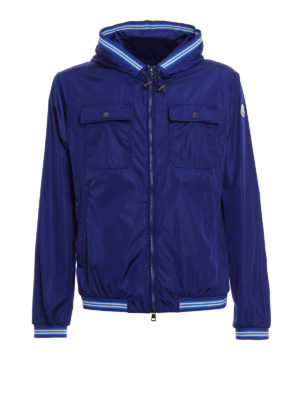 Moncler: casual jackets - Jeanclaude hooded nylon jacket