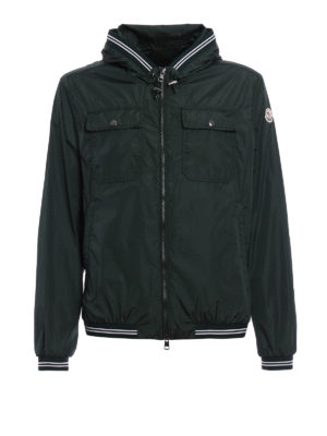 Moncler: casual jackets - Jeanclaude hooded nylon jacket