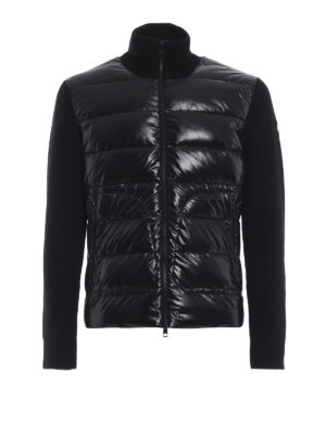 MONCLER: giacche casual - Giubbotto in lana e nylon imbottito