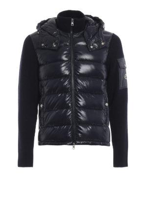 MONCLER: giacche casual - Giacca con zip in lana e nylon imbottito