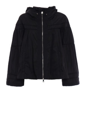 Moncler: casual jackets - Lapis nylon wide jacket