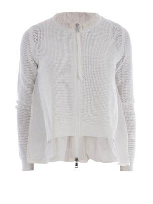 Moncler: casual jackets - Nylon panelled flared jacket