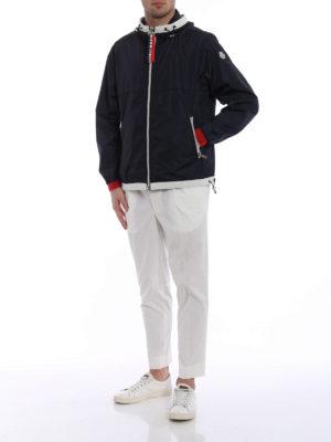 Moncler: casual jackets online - Alshat dark blue windproof jacket