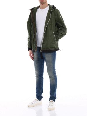 Moncler: casual jackets online - Alshat dark green windproof jacket