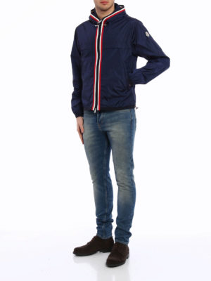 Moncler: casual jackets online - Colour touch nylon hooded jacket