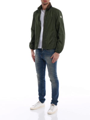 Moncler: casual jackets online - Goulier dark green jacket