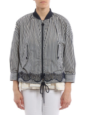 Moncler: casual jackets online - Istres striped boxy jacket