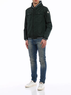 Moncler: casual jackets online - Jeanclaude hooded nylon jacket