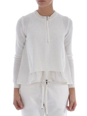 Moncler: casual jackets online - Nylon panelled flared jacket