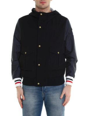 Moncler: casual jackets online - Nylon sleeved wool jacket