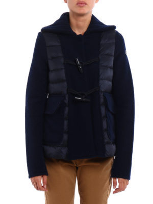 Moncler: casual jackets online - Padded front wool cloth jacket