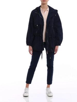 Moncler: casual jackets online - Sanvel blue jacket