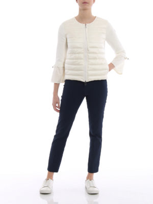 Moncler: casual jackets online - White padded nylon tricot jacket