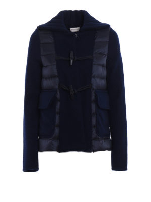 Moncler: casual jackets - Padded front wool cloth jacket