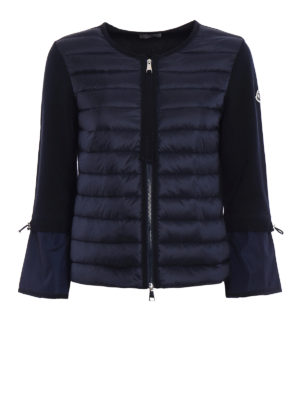 Moncler: casual jackets - Padded nylon and tricot jacket