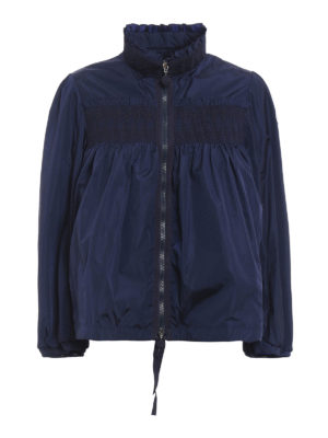 Moncler: casual jackets - Suze embroidered ruffled jacket