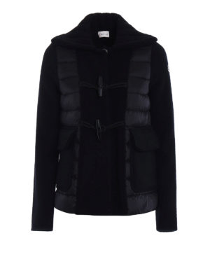 Moncler: casual jackets - Wool and padded nylon Monty jacket