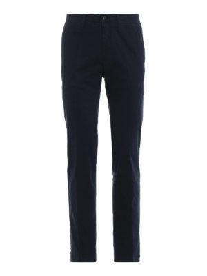 MONCLER: pantaloni casual - Pantaloni tinti in capo in cotone