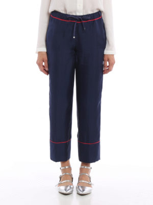 Moncler: casual trousers online - Silk casual trousers