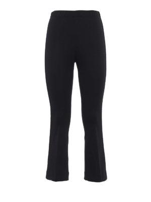 MONCLER: pantaloni casual - Pantaloni crop con bande laterali in velluto