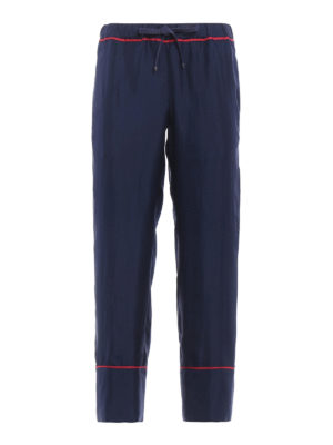Moncler: casual trousers - Silk casual trousers