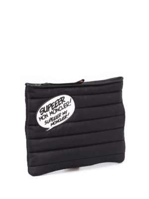 Moncler: clutches online - Nylon padded clutch