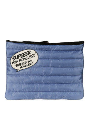 Moncler: clutches - Supeeer Mon Moncler blue pouch