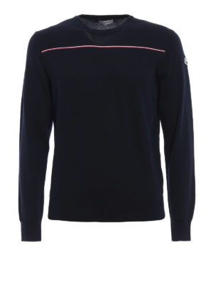 Moncler: crew necks - Fine cotton crew neck sweater