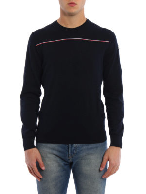 Moncler: crew necks online - Fine cotton crew neck sweater