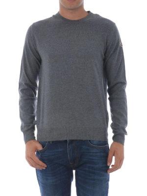 Moncler: crew necks online - Grey wool crew neck sweater