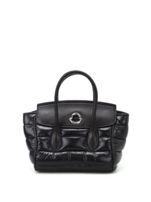 Moncler: cross body bags - Evera padded nylon and leather bag