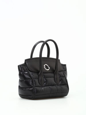 Moncler: cross body bags online - Evera padded nylon and leather bag