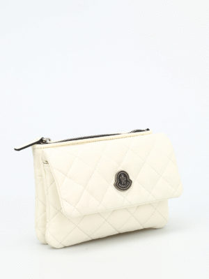 Moncler: cross body bags online - Poppy quilted leather crossbody