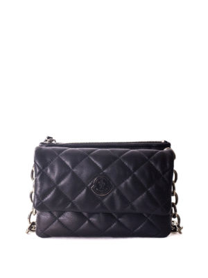 Moncler: cross body bags - Poppy quilted leather crossbody