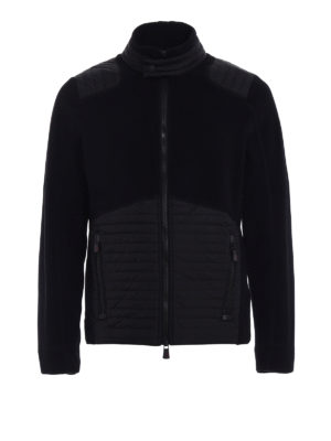 Moncler Grenoble: casual jackets - Quilted padded panels pile jacket