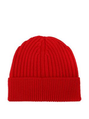 MONCLER GRENOBLE: berretti online - Berretto rosso in lana a coste Après-ski