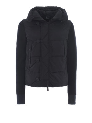 Moncler Grenoble: padded jackets - Après-ski nylon and wool jacket