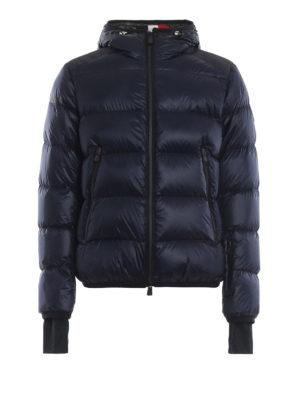 MONCLER GRENOBLE: giacche imbottite - Piumino blu scuro con cappuccio Interthux
