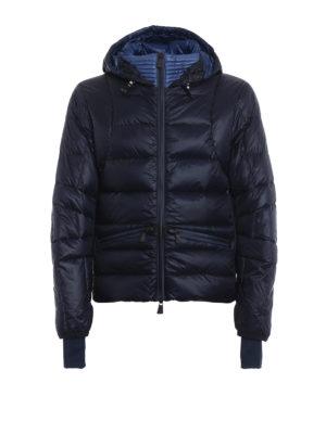 MONCLER GRENOBLE: giacche imbottite - Piumino Mouthe blu con cappuccio